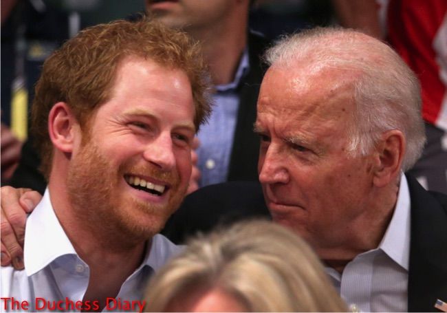 Prince Harry Joe Biden Smile Watch Wheelchair Rugby Invictus Games 2016