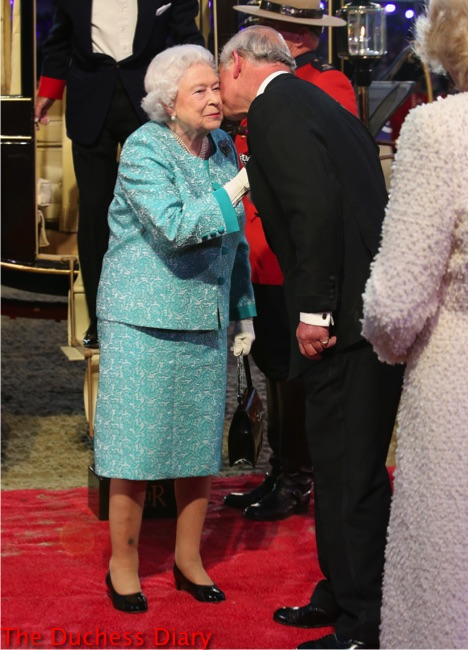 prince charles greets queen elizabeth II royal windsor horse show