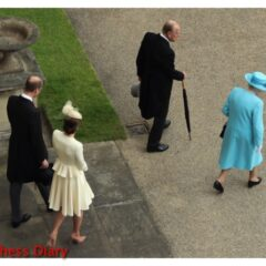 kate middleton cream alexander mcqueen coat prince william join the queen prince philip garden party
