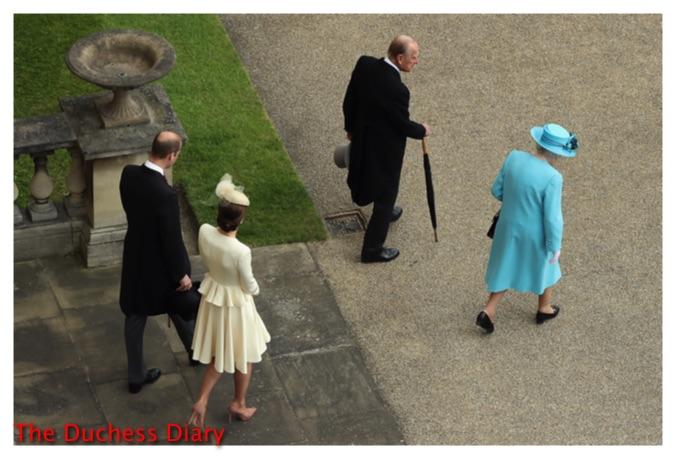 kate middleton cream alexander mcqueen coat prince william join the queen prince philip garden party