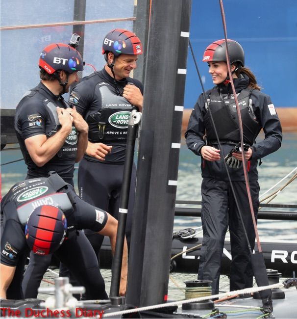 kate middleton helmet training catamaran portsmouth