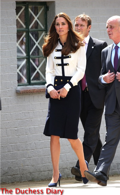 kate middleton nautical alexander mcqueen bletchley park