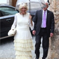 camilla duchess of cornwall attends lady charlotte windsor wedding