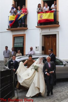 lady charlotte wellesley marries alejandro santo domingo wedding spain