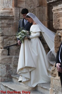 lady charlotte wellesley emilia wickstead dress marries alejandro santo domingo