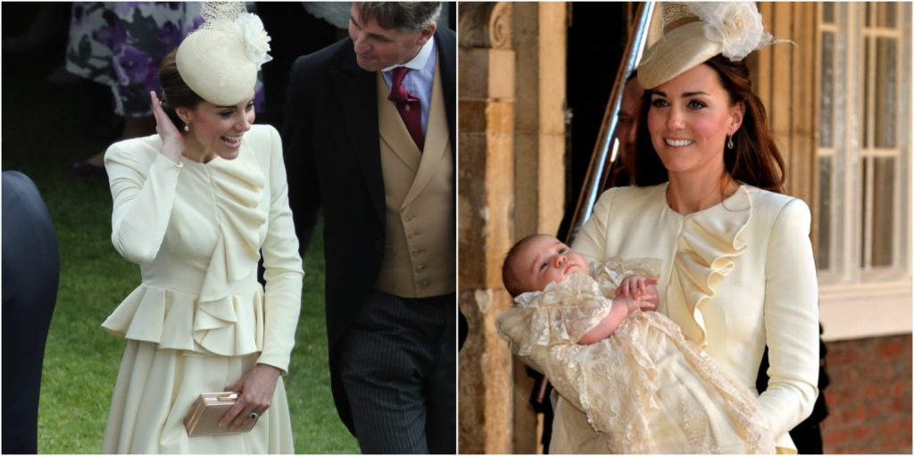 kate middleton cream ruffled alexander mcqueen coat repeat
