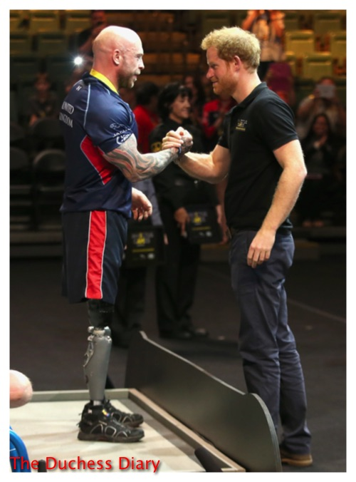 prince harry presents gold medal winner invictus games 2016