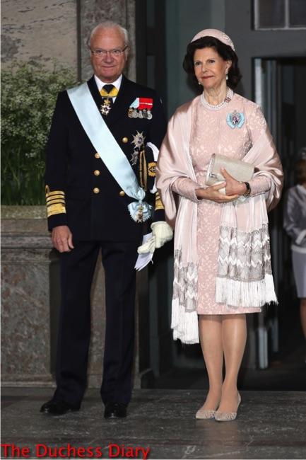 King Carl Gustaf Queen Silvia sweden christening grandson prince oscar