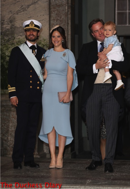princess sofia blue dress prince carl phililp christopher o'neil holds prince nicolas christening prince oscar