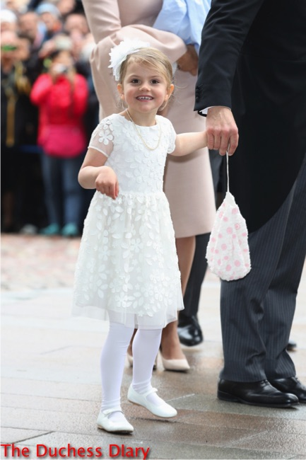 princess estelle smiles white dress christening prince oscar