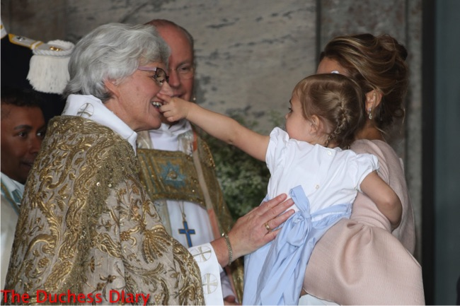 princess leonore points member clergy swedish royal family christening prince oscar