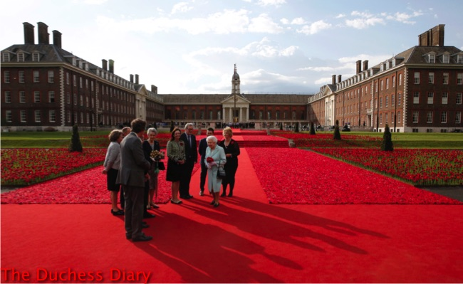 queen elizabeth II 5000 poppies garden chelsea flower show