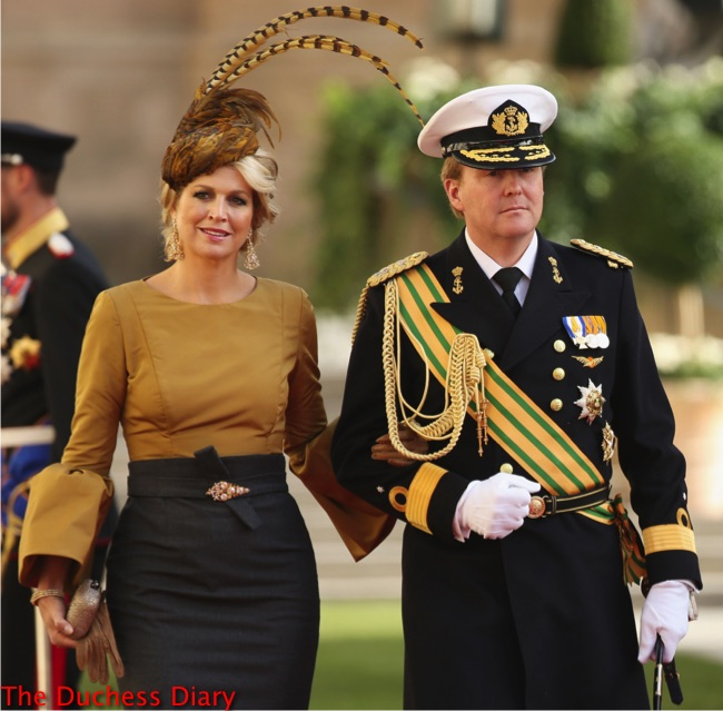 princess maxima feather hat prince willem-alexander luxembourg royal wedding.