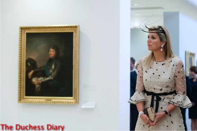 queen maxima black wire hat national museum poland