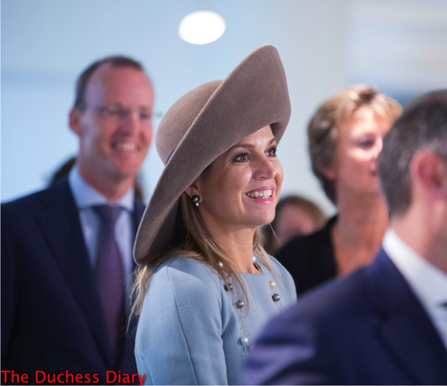 queen maxima grey wide brim hat new visitor center netherlands