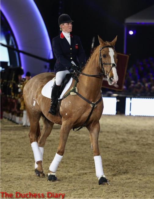 zara tindall equestrian rides royal windsor horse show