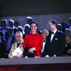 kate middleton red zara coat dolce gabbana dress royal windsor horse show