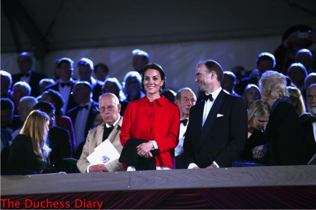 kate middleton red zara coat dolce gabbana dress royal windsor horse show