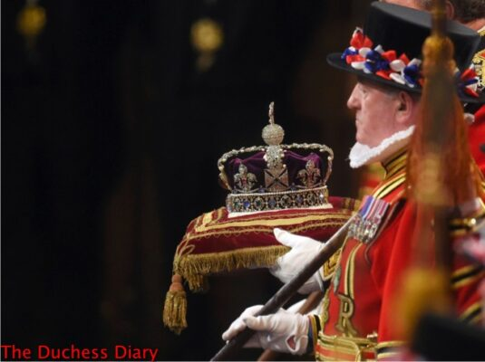 imperial state crown arrives state opening parliament 2016