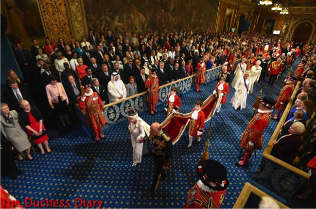 queen elizabeth II prince philip lead state opening parliament 2016