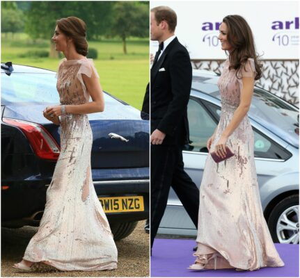 duchess cambridge rewears jenny packham pink gown galas