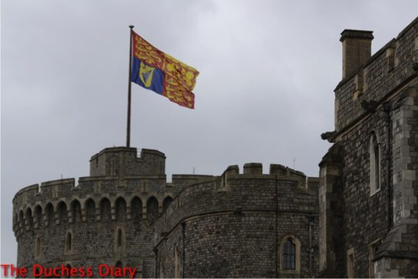 royal standard flies above windsor castle order garter 2016