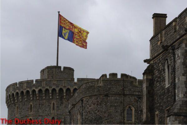 royal standard flies above windsor castle order garter 2016