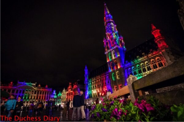 brussels grand place lights up rainbow orlando shooting victims
