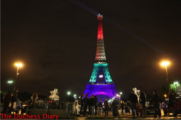 eiffel tower rainbow colors support orlando shooting victims