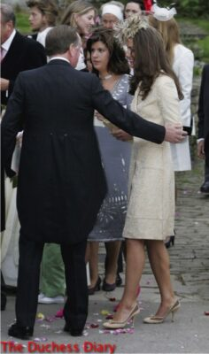 kate middleton yellow brocade coat wedding laura parker bowls