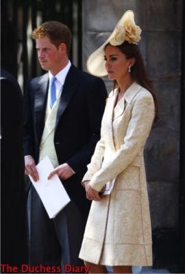 duchess cambridge yellow brocade coat zara tindall wedding edinburgh