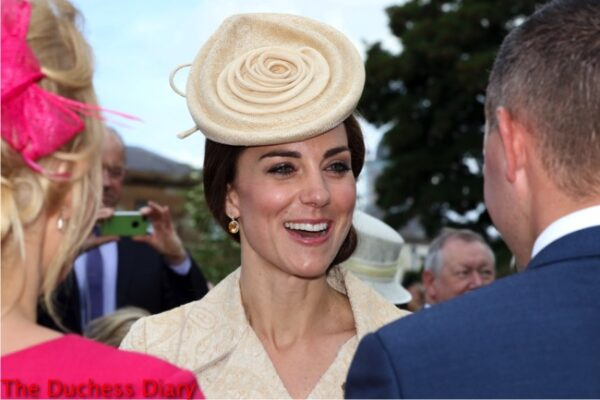catherine duchess cambridge lock co hat northern ireland garden party