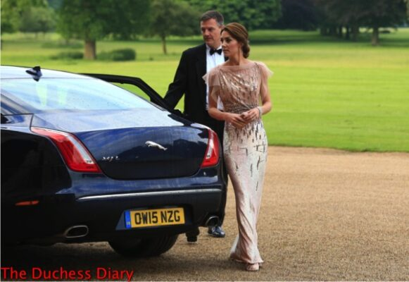 catherine duchess cambridge rewears jenny packham gown EACH gala dinner houghton hall