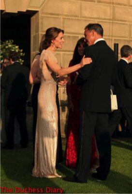 catherine duchess cambridge speaks animatedly anthony horowitz each gala dinner