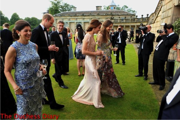 duke cambridge duchess cambridge guests make way into houghton hall