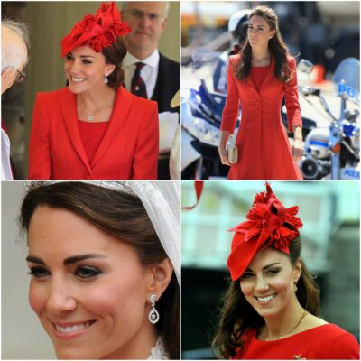 duchess of cambridge red outfit repeat garter day