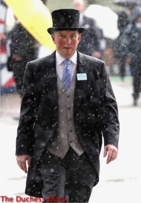 male racegoer morning suit torrential downpour royal ascot day one