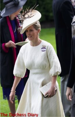 countess wessex emilia wickstead parade ring royal ascot day one