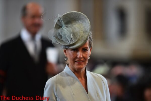 countess of wessex arrives national service thanksgiving queen's 90th birthday