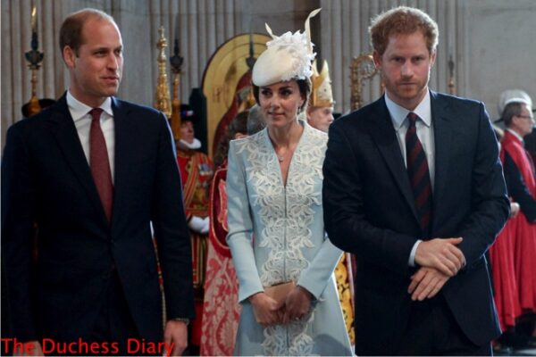 prince harry prince william catherine duchess cambridge national service thanksgiving