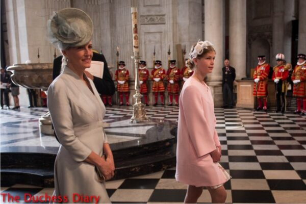 sophie countess wessex lady louise windsor national service thanksgiving