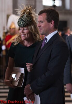 LONDON, ENGLAND - JUNE 10: Autumn Phillips and Peter Phillips leave after a service of thanksgiving for Queen Elizabeth II's 90th birthday at St Paul's cathedral on June 10, 2016 in London, United Kingdom. (Photo by Stefan Rousseau - WPA Pool/Getty Images)