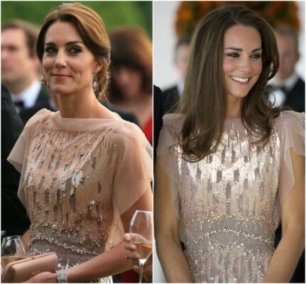 duchess cambridge rewears pink jenny packham each gala