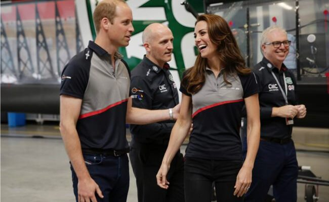 William and Kate Watch America's Cup, Kate Displays Serious Upper Body Strength