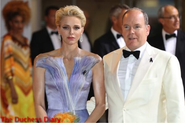 princess charlene valentino gown prince albert red cross gala 2016