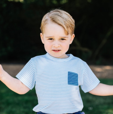 prince george striped shirt third birthday picture