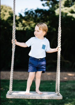 prince george striped shirt parents swing anmer hall