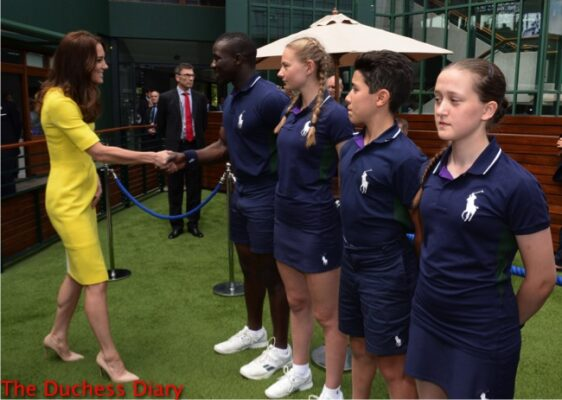 catherine duchess cambridge yellow roksanda ilincic dress wimbledon semi finals