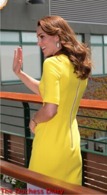 duchess of cambridge waves wimbledon roksanda