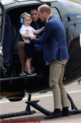 prince william lifts prince george squirrel helicopter raf fairford
